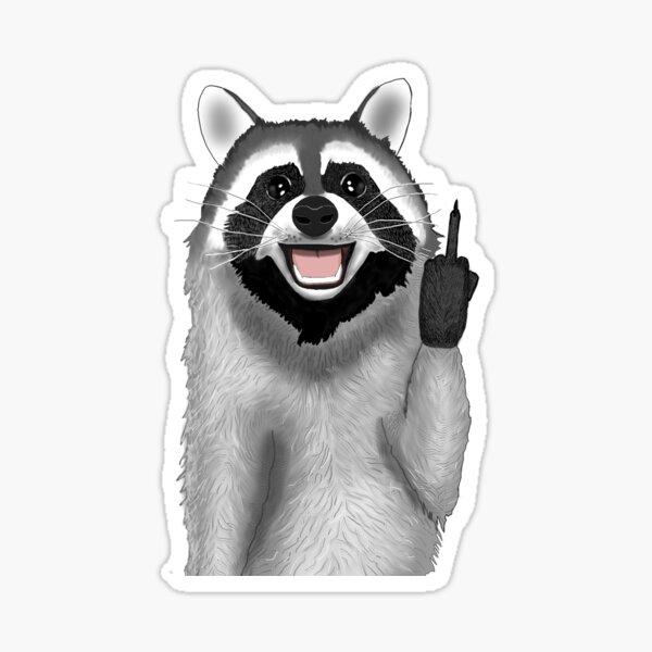 Bad Raccoon Sticker