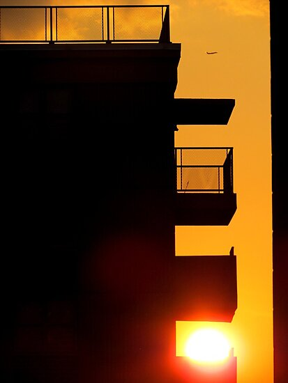 Balcony sunset, New York City by Alberto  DeJesus
