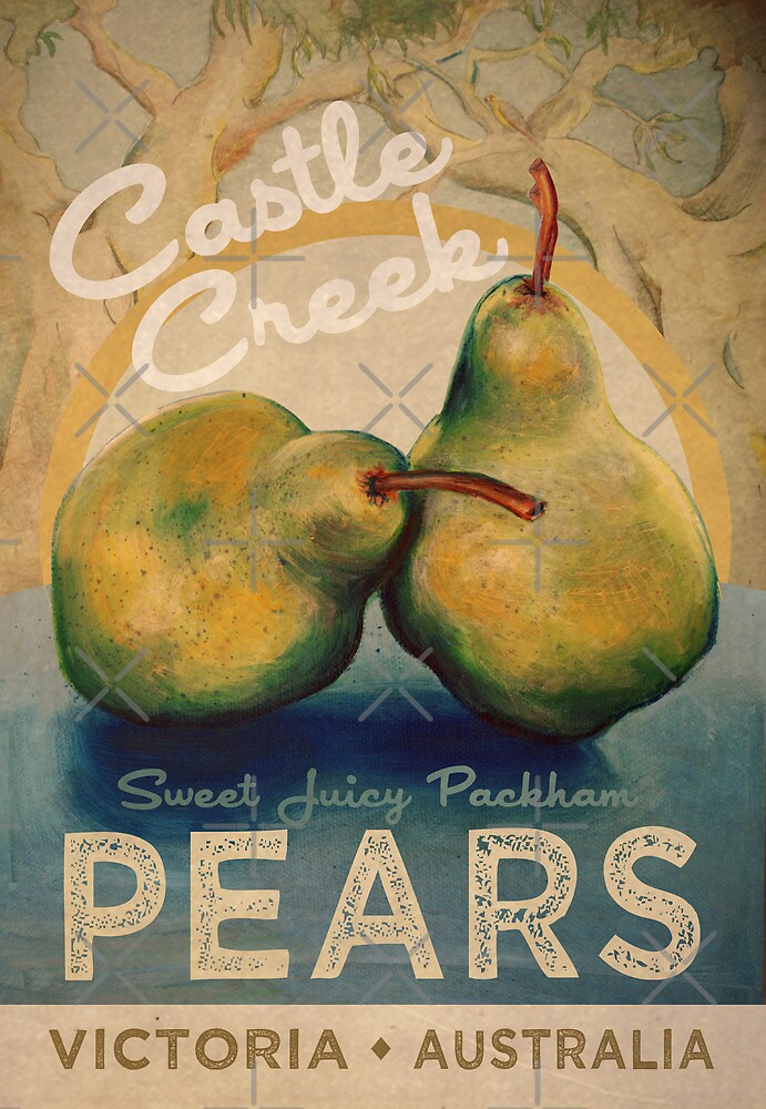 Castle Creek Pears Sign by Sarah  Mac Illustration