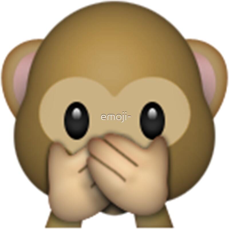 Monkey emoji speak no evil by emoji