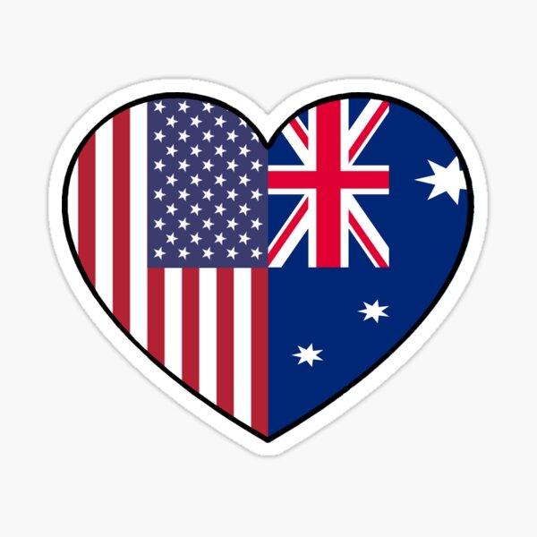 USA & AUS Sticker