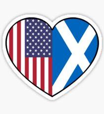 USA & Scotland Sticker