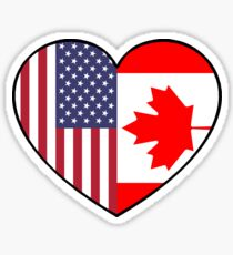 USA & Canada Sticker