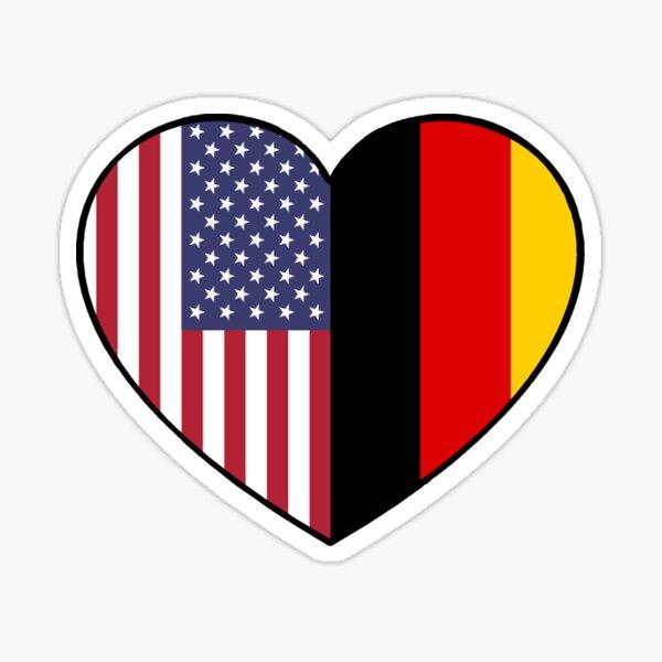 USA & Germany Sticker