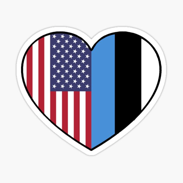 USA & Estonia Sticker