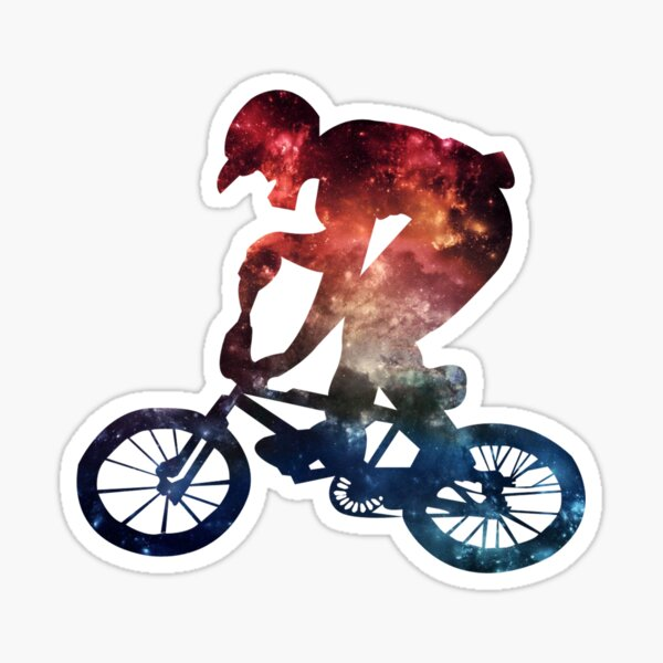 BMX Galaxy Sticker