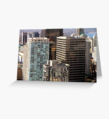 Glittering Skyscrapers, Vancouver  Greeting Card