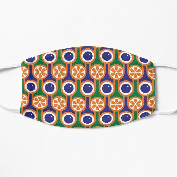 Scandi Midcentury Modern Retro Geometric Blueberries Oranges Pattern Mask