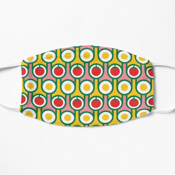 Scandi Midcentury Modern Retro Geometric Eggs Tomatoes Pattern Mask