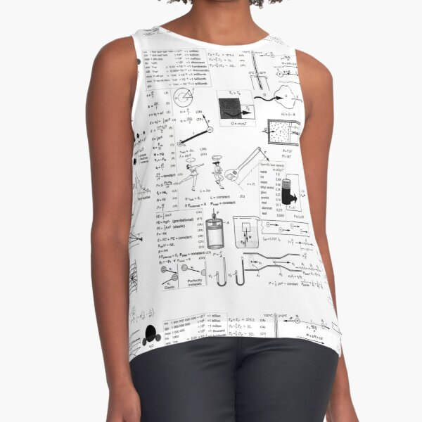 General Physics Formula Set Sleeveless Top