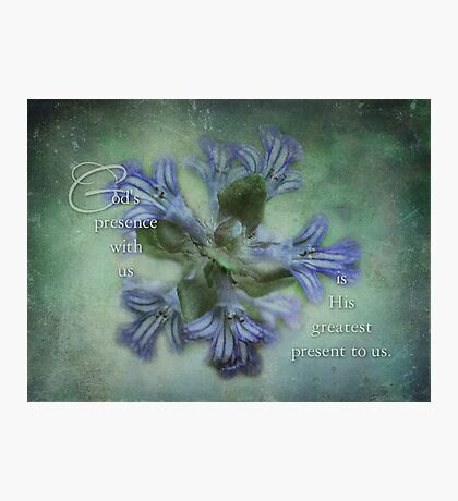 God's presence-inspirational Photographic Print