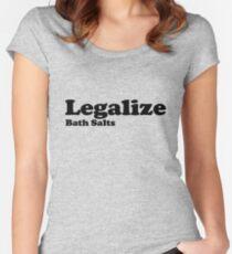 Legalize Bath Salts (Black Text) Women's Fitted Scoop T-Shirt