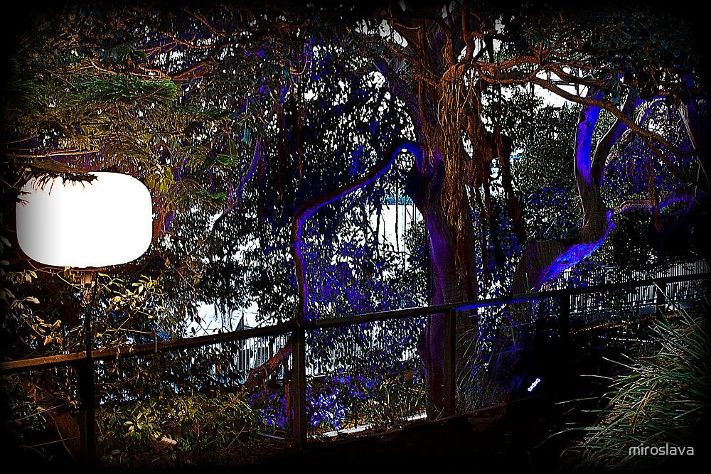 Blue night gardens by miroslava