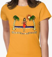 Let's Talk Dirty In Hawaiian Women's Fitted T-Shirt