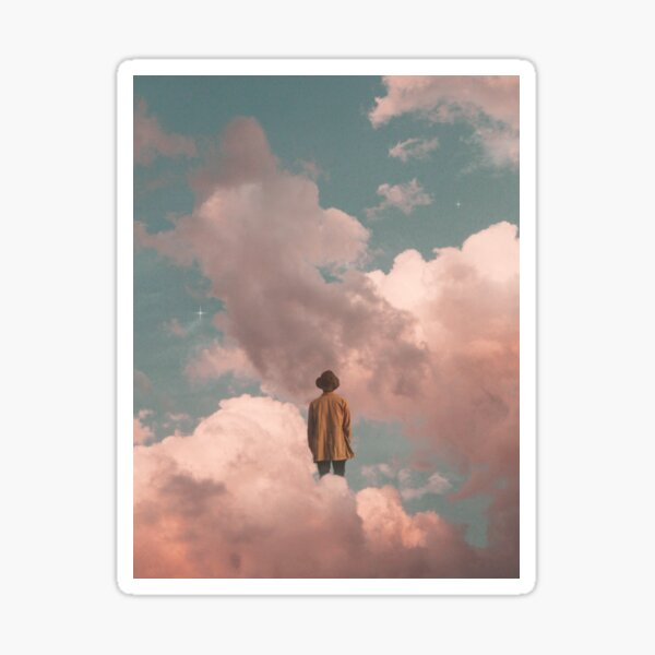 man in the sky Sticker
