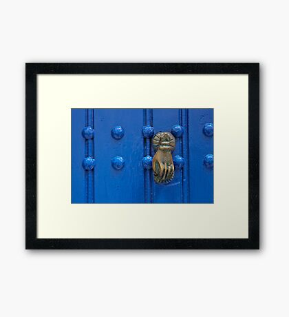 Knock with a knock Framed Print