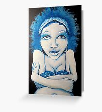 Blue Girl Greeting Card