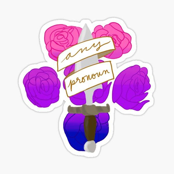 Bi pride - any pronoun Sticker