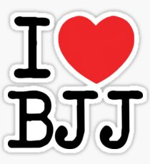 I Love BJJ Sticker