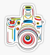 Rainbow Camera Fun Sticker