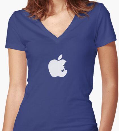 Sherlock Holmes - Apple logo Women's Fitted V-Neck T-Shirt