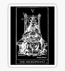 The Hierophant Tarot V Sticker Sticker