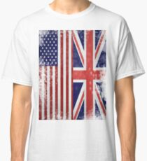 Distressed Flags: American/British Classic T-Shirt