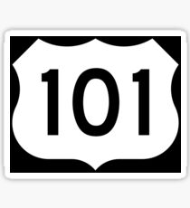 US Route 101 - California - Highway Road Trip T-Shirt Car Bumper Sticker Sticker