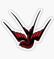 Red Swallow Tattoo Sticker