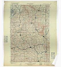 USGS Topo Map Washington State WA Oakesdale 242890 1905 125000 Poster