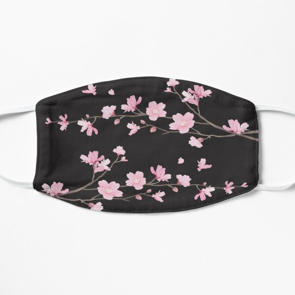 Cherry Blossom - Black Flat Mask