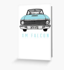 XM Falcon Front in Blue Greeting Card