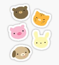Cute Animal Sticker Sheet Sticker