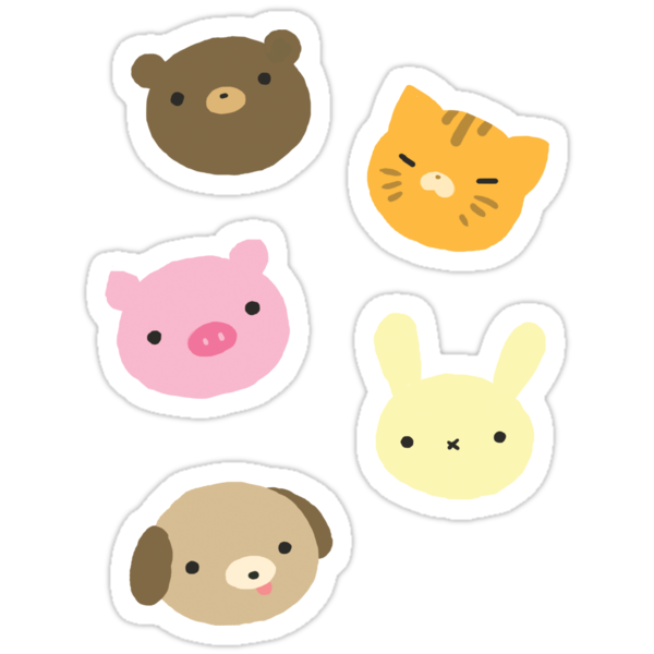 Quot Cute Animal Sticker Sheet Quot Stickers By Adoxographist