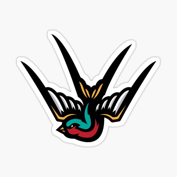 Swallow (sticker and white tee version) Sticker