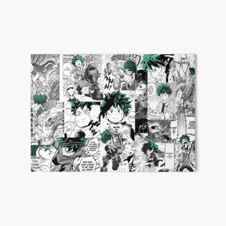 My Hero Academia Deku Manga Collage Lámina rígida
