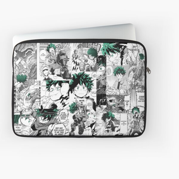 My Hero Academia Deku Manga Collage Funda para portátil