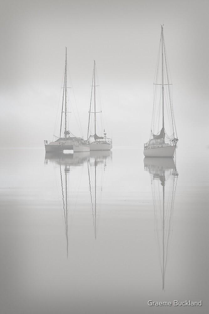 Sitting in th Fog - Eastern Beach Geelong by Graeme Buckland
