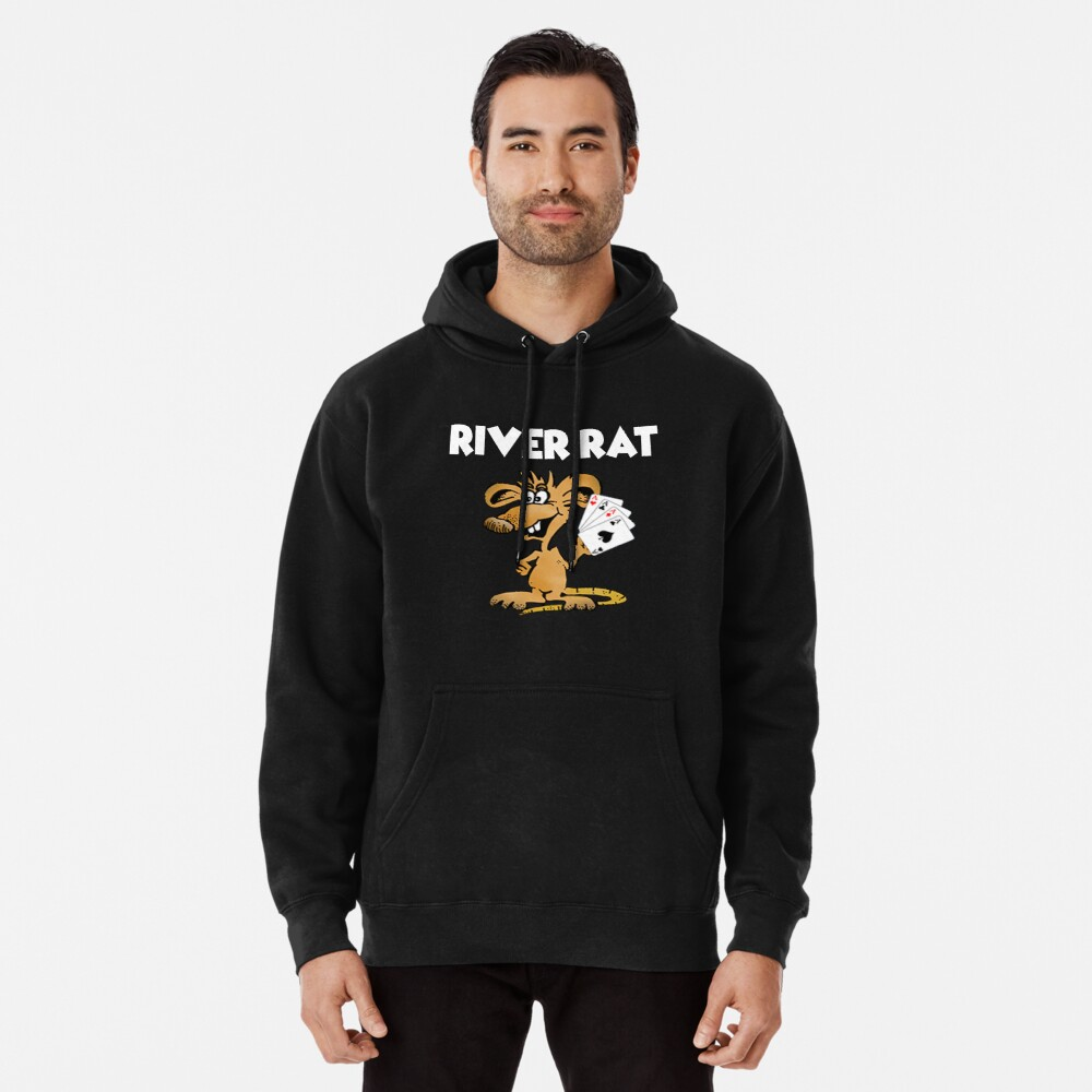 River Rat Design Pullover Hoodie