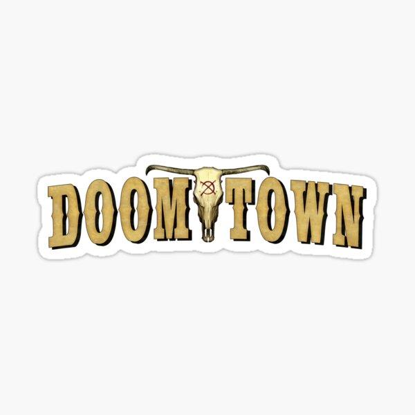 Doomtown Logo Items Sticker