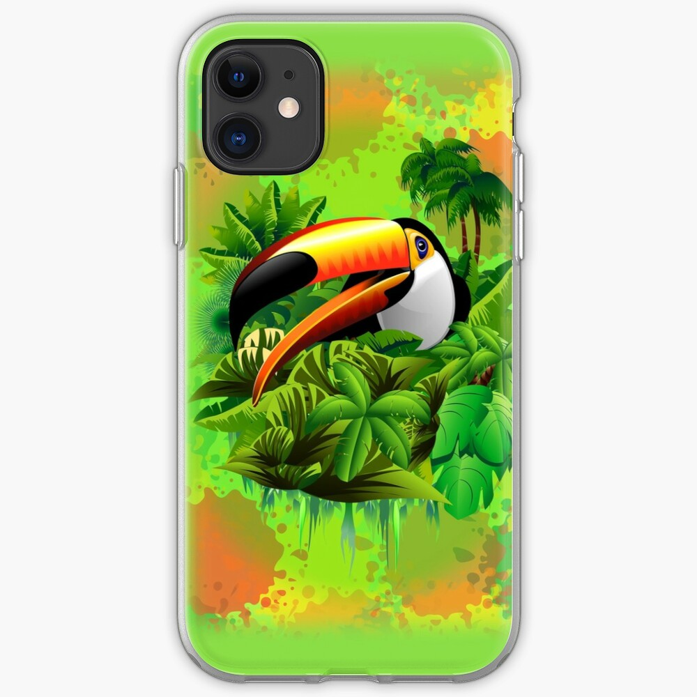 Toucan on Wild Green Jungle  iPhone Case & Cover