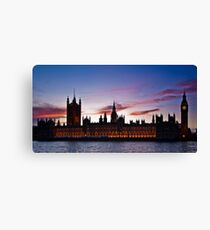 British Houses of Parliament at twilight Canvas Print