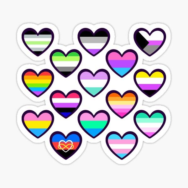Pride Hearts Sticker
