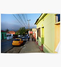 Chile: street scene, Poster