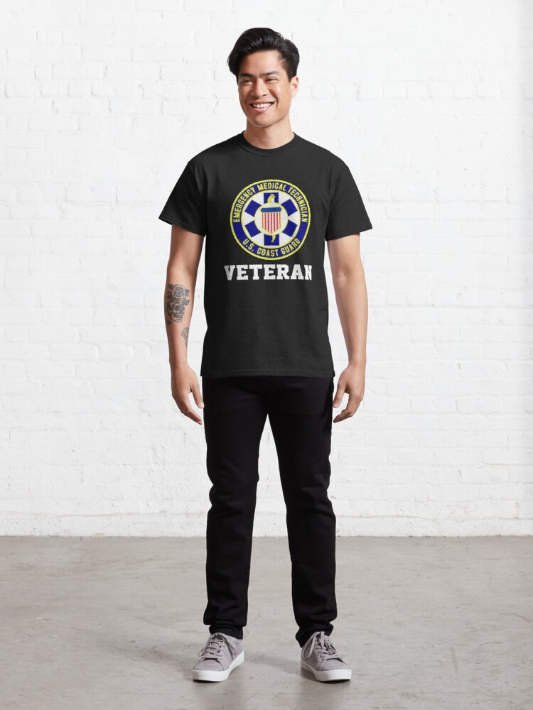 Alternate view of EMT Veteran USCG Design Classic T-Shirt