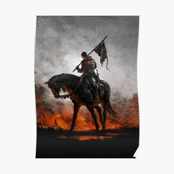 Medieval Horseman Poster