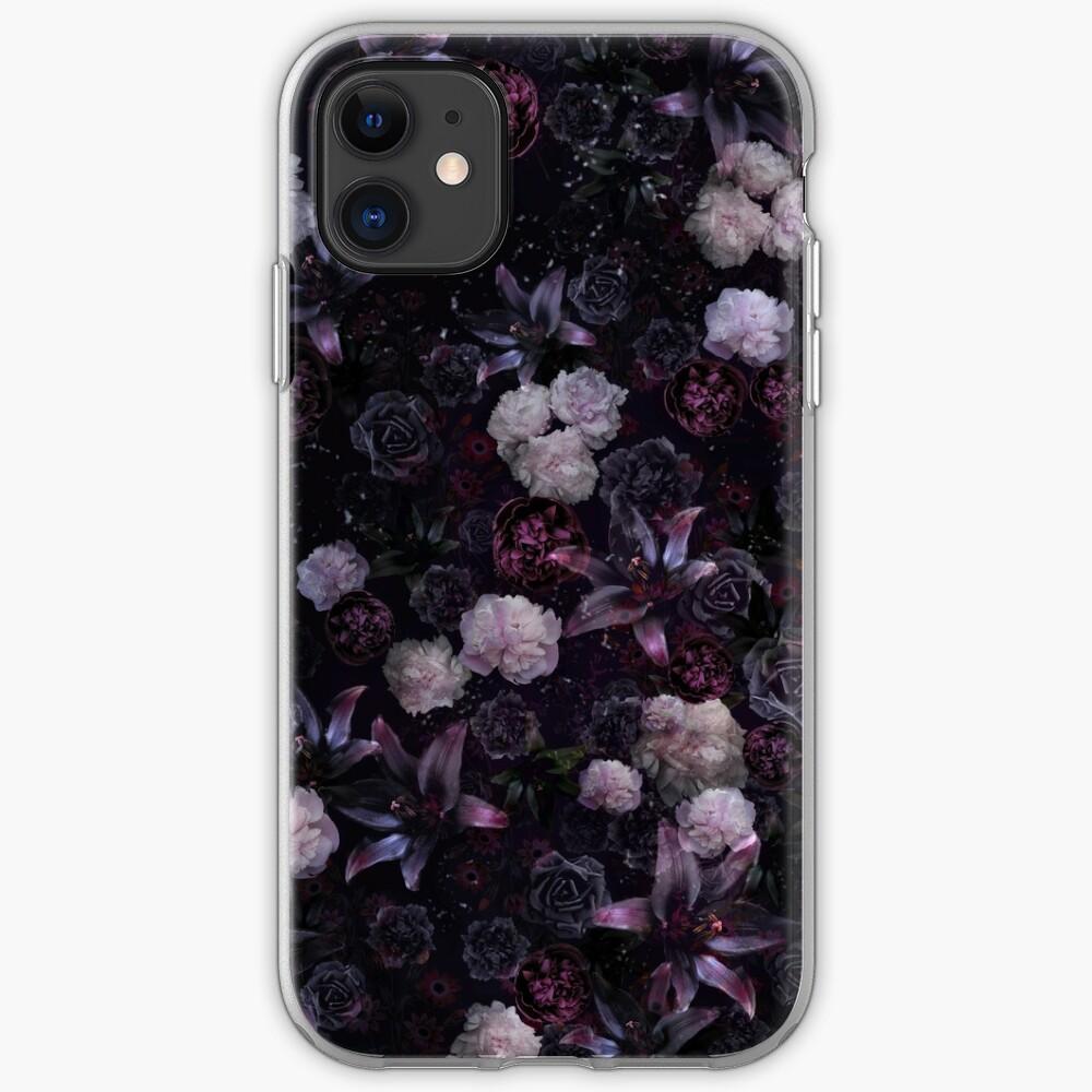 Midsummer Nights Dream #Dark Floral #Midnight #Black #Rose #Night iPhone Case & Cover