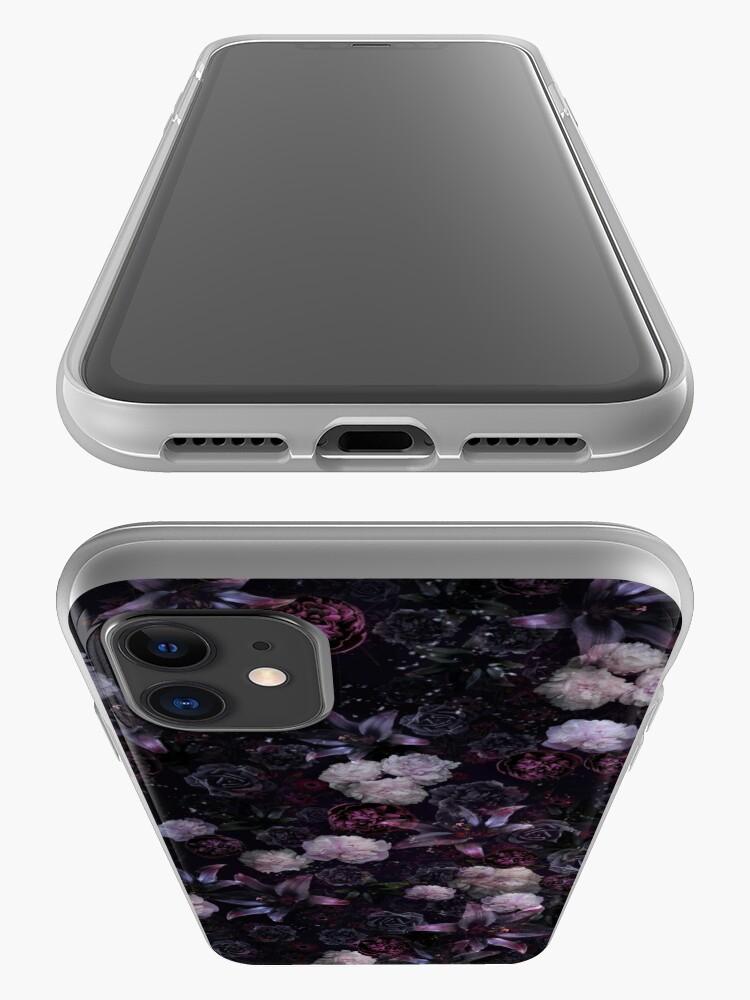 Alternate view of Midsummer Nights Dream #Dark Floral #Midnight #Black #Rose #Night iPhone Case & Cover