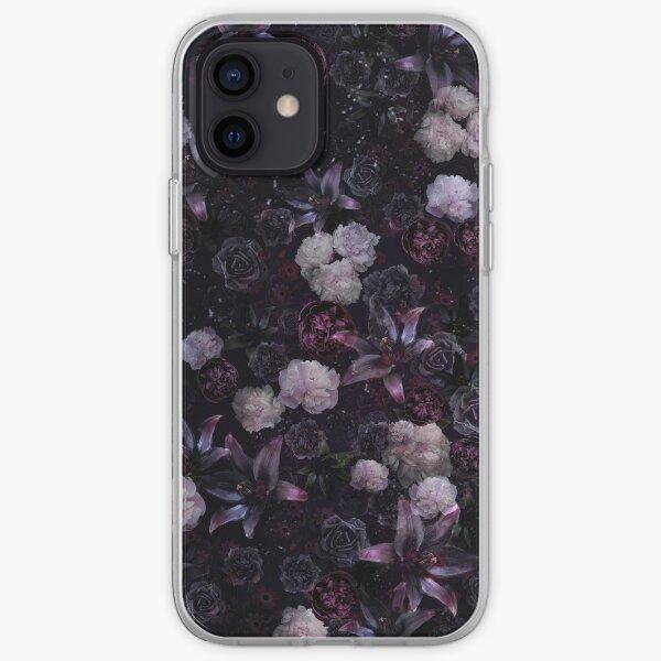 Midsummer Nights Dream #Dark Floral #Midnight #Black #Rose #Night iPhone Soft Case