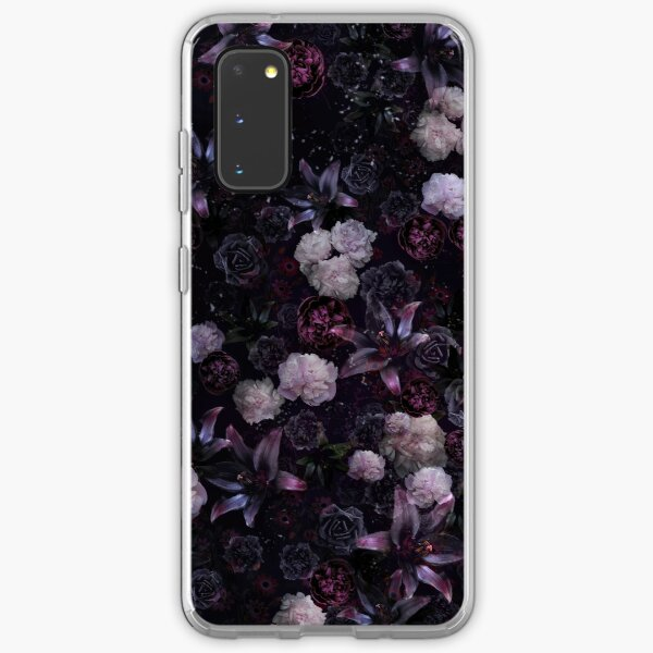 Midsummer Nights Dream #Dark Floral #Midnight #Black #Rose #Night Samsung Galaxy Soft Case